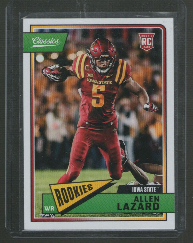 Details About Allen Lazard Rc Classics Panini 2018 260 Green Bay Packers Iowa State Iowa Iowa State Green Bay