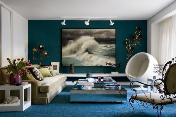 Beautiful Ocean Themed Living Room Pictures ...