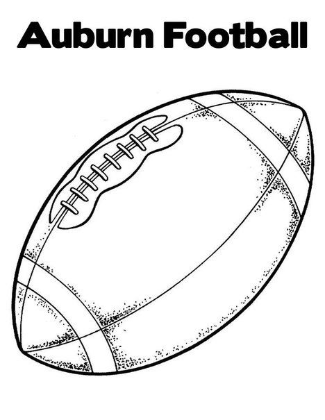 Auburn Football Coloring Pages The Coloring Pages Football Coloring Pages Football Clip Art Sports Coloring Pages