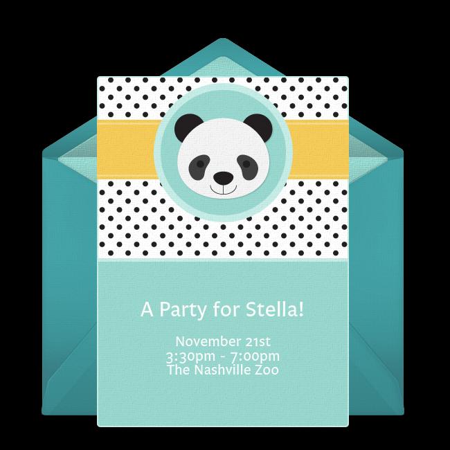 Free Panda Party Invitations Panda Party Animal Themed