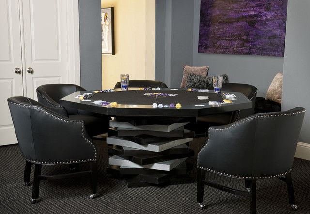 Poker Table Beautiful Chairs Minus The Chip Trays And Cup Holders Poker Table And Chairs Contemporary Games Poker Table