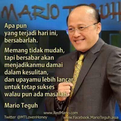 Bersabarlah Walau Entah Sampai Kapan Kata Kata Motivasi Mario