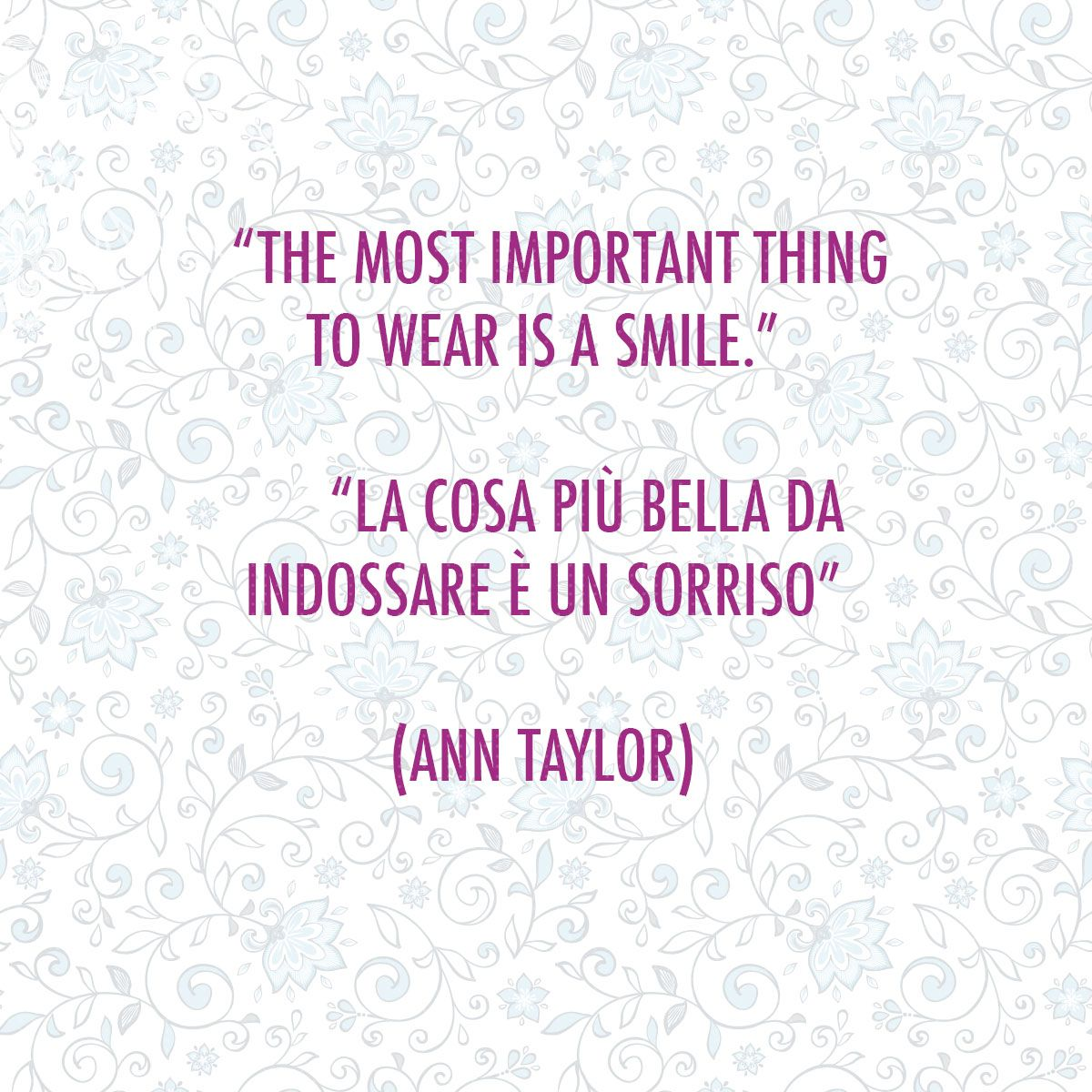smile :)!