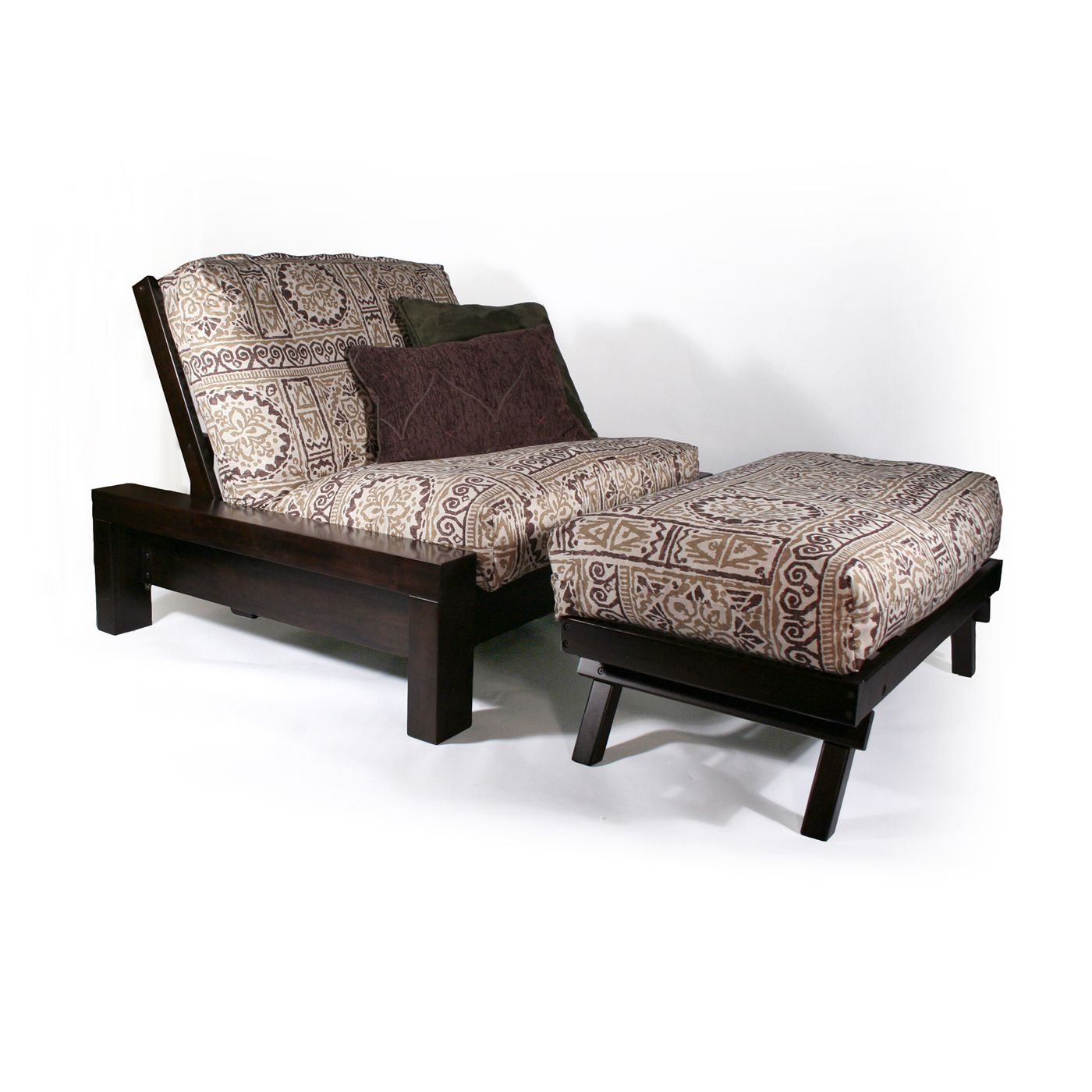 Prime Strata Furniture Carriage Rockwell Chair And Ottoman Futon Alphanode Cool Chair Designs And Ideas Alphanodeonline