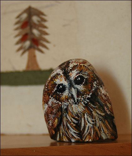 Painted owl by Glisglis, via Flickr