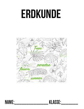 erdkunde deckblatt regenwald   erdkunde deckblätter   deckblätter zum ausdrucken   schulbeginn