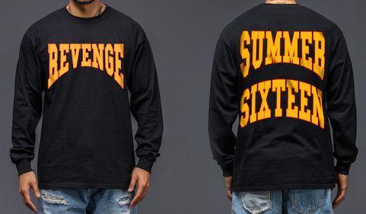 """3f59fc1e93b7 Drake Wears Summer Sixteen Tour """"Revenge"""" Shirt and Air Jordan 5 ..."""