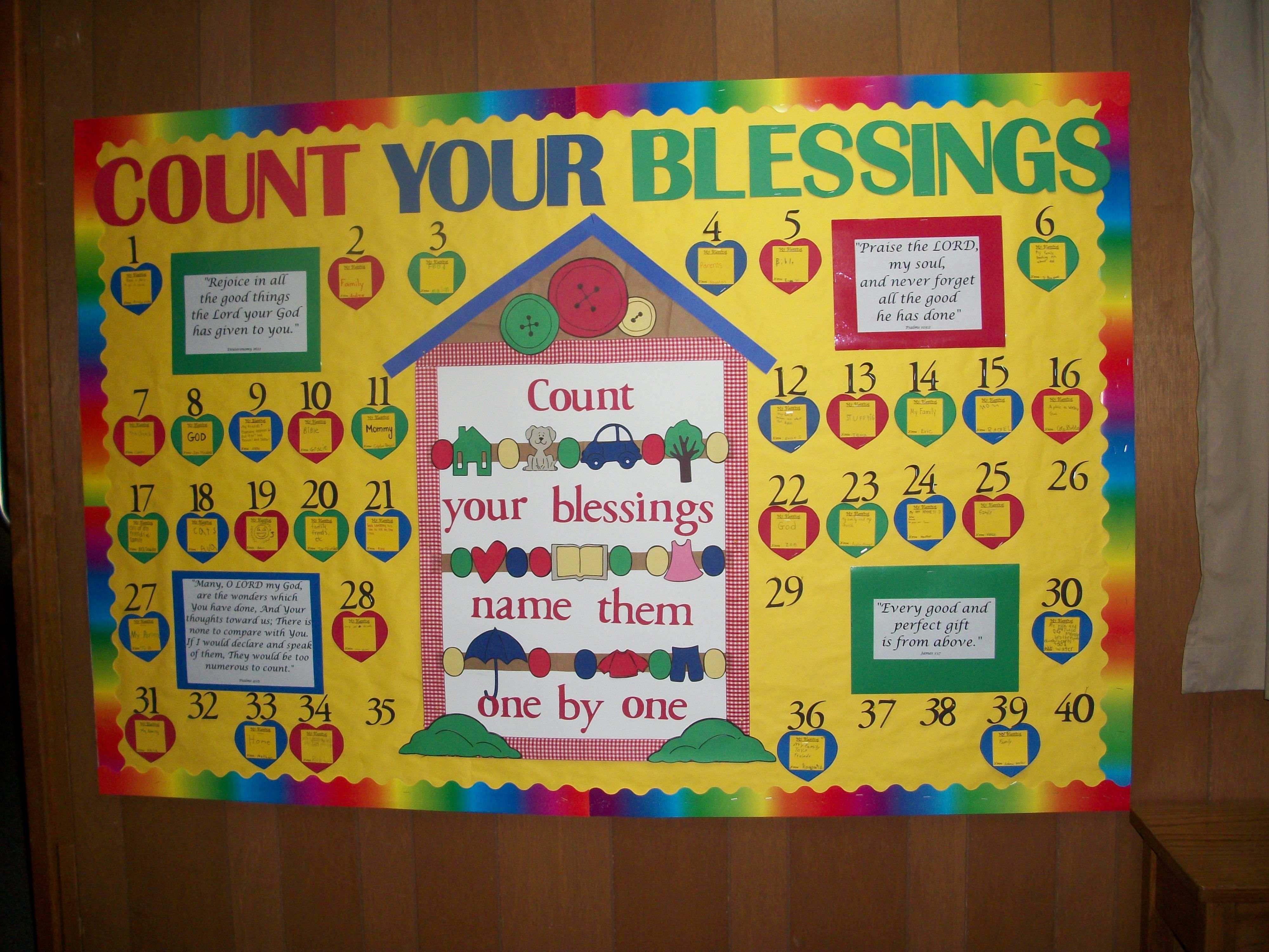 count your blessings bb kids teaching with bulletin boards rh pinterest ch