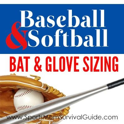 How To Choose The Right Size Baseball Softball Equipment Softball Equipment Baseball Softball Softball