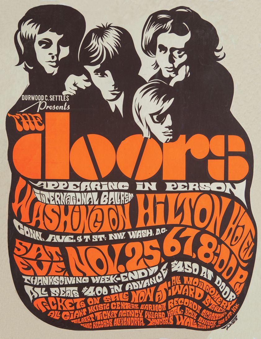 The Doors The Doors Debut Album Psychedelic Rock Blues Rock POSTER wall art