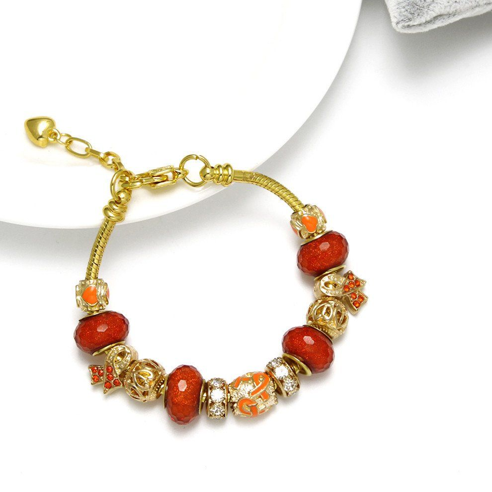 Our New Multiple Sclerosis Awareness Gold Color Bracelet Show Your Support With This In Orange