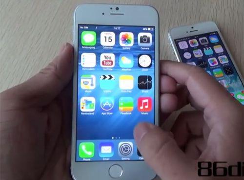 Xuất hiện clip nhái iPhone 6 chạy Android chực giống IOS 8
