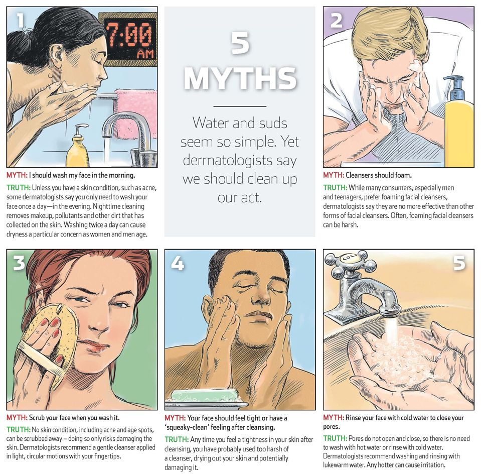 Wash Your Face In The Morning 5 Myths Debunked Wash Your Face Face Face Wash