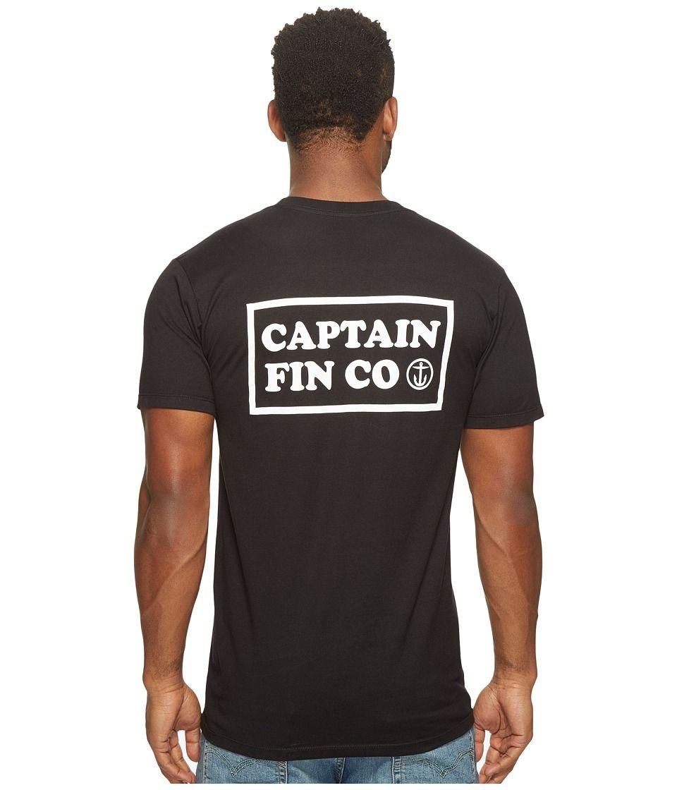 CAPTAIN FIN CAPTAIN FIN - NEW WAVE POCKET TEE (BLACK/WHITE) MEN'S T