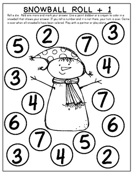 SNOW MATH FUN! Math Work Pages that Support Common Core ...
