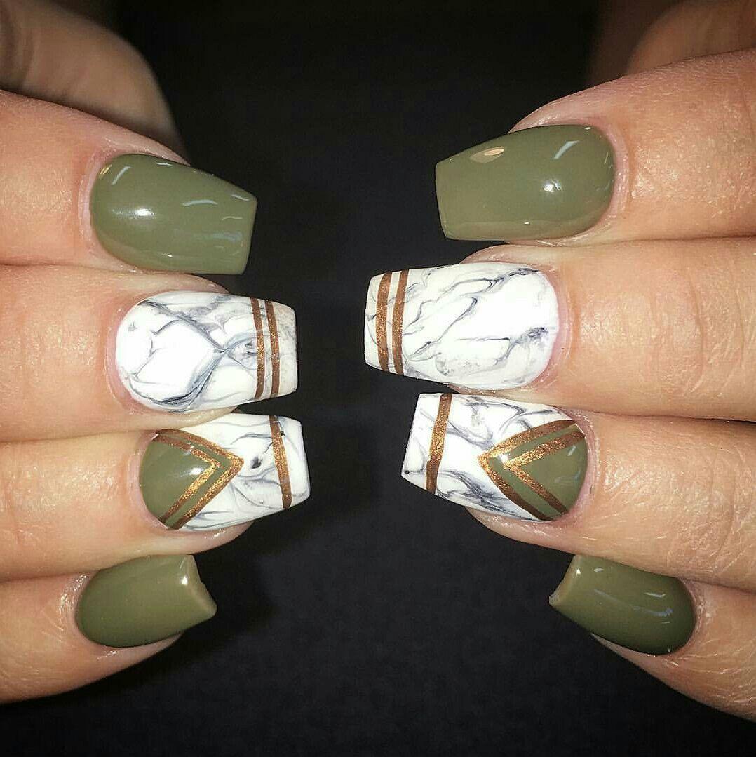 olive marble gold nails beauty pinterest negle. Black Bedroom Furniture Sets. Home Design Ideas