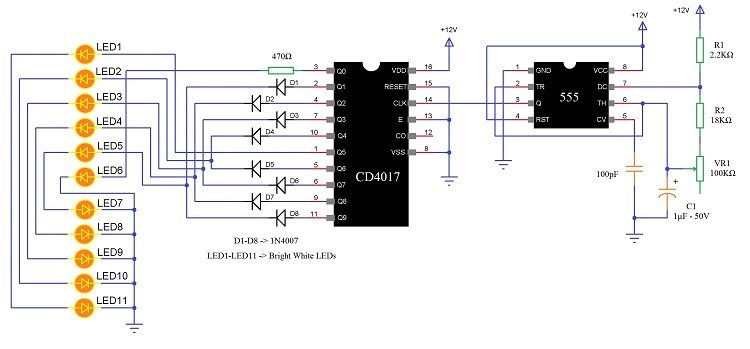 Led Knight Rider Circuit