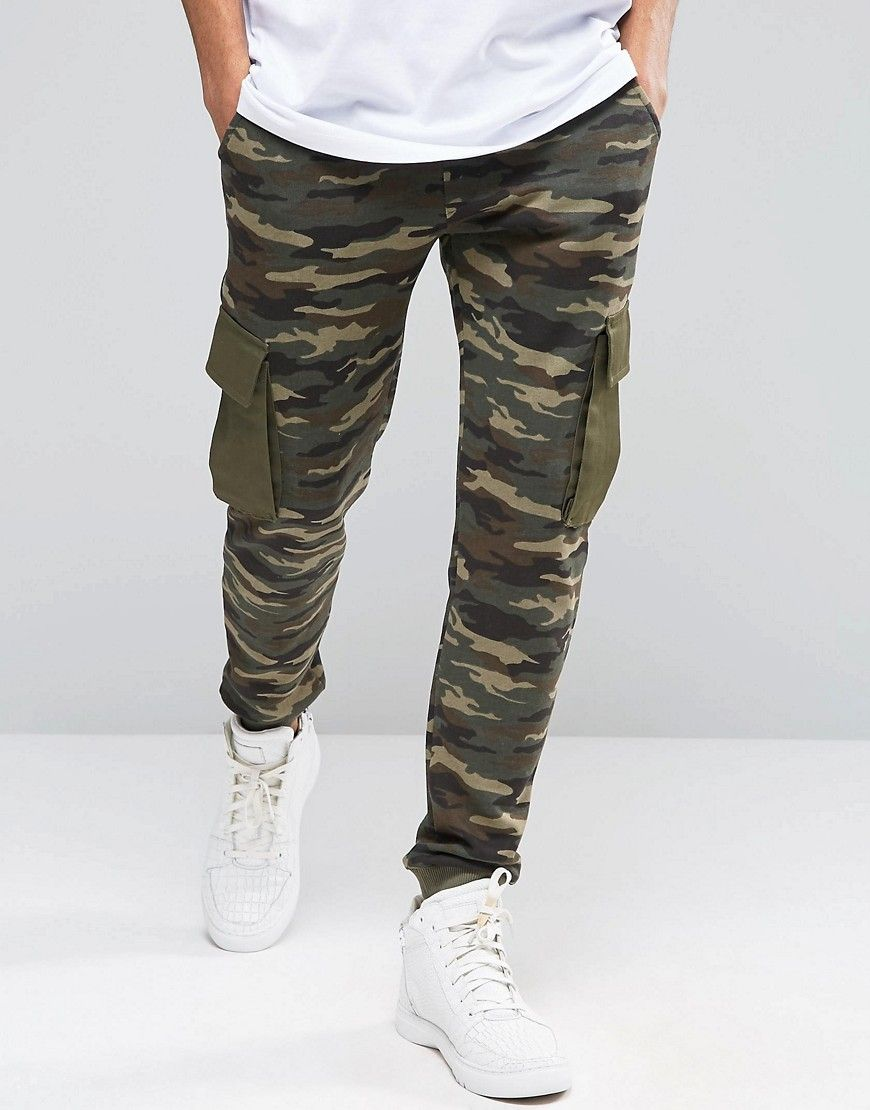 Image 1 of ASOS Slim Camo Joggers With Cargo Pockets | everything ...