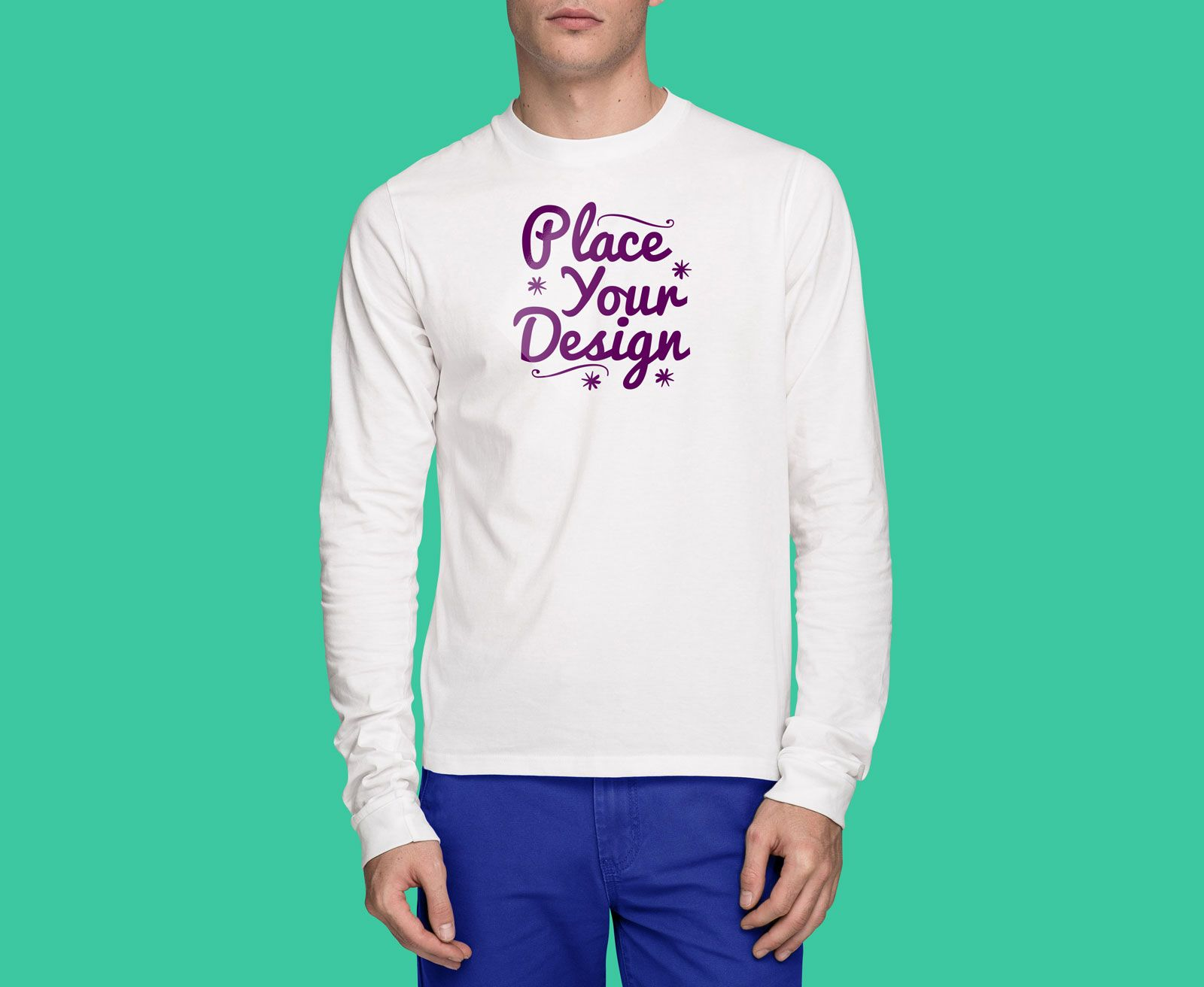 Download A Front And Backside Full Sleeves T Shirt Mockup For Online T Shirt Stores As Well As For Designers To Present Ts Shirt Mockup Tshirt Mockup Full Sleeve Tshirt