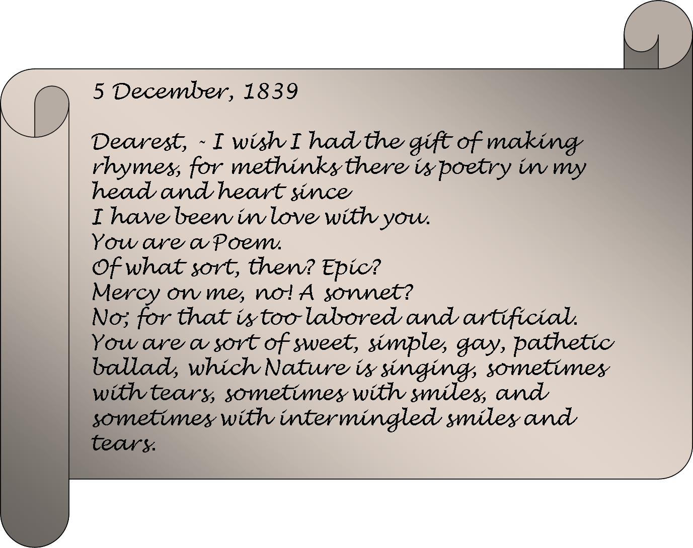 Letter From Nathaniel Hawthorne To His Future Wife Sophia Amelia Peabody  They Were Married From