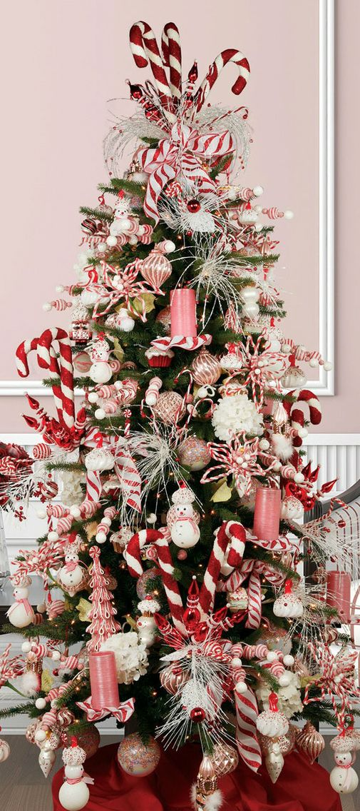 Candy Cane Christmas Tree Christmas Xmas Holiday Decorating