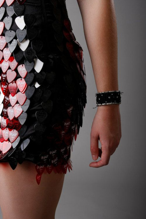hate-train:  Guitar Pick Dress by Misha Beverly