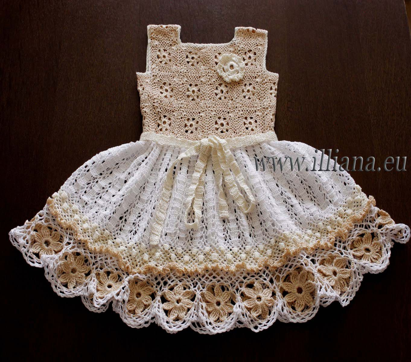Crochet dress. PDF Pattern . No 85 por Illiana en Etsy | Vestidos ...