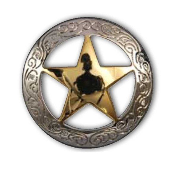Ranger Star Concho Silver Plate 3 Sizes