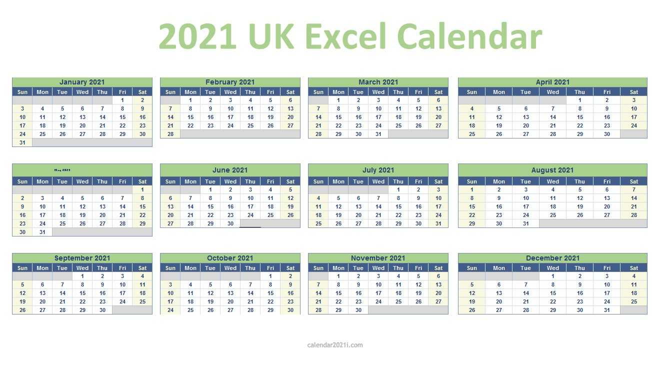20 UK Excel Calendar Printable in 20   Excel calendar ...