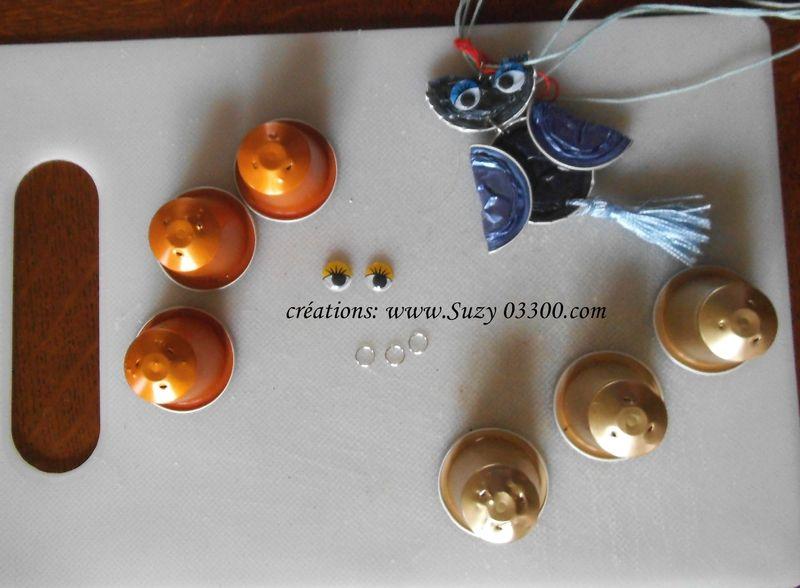 Exceptionnel TUTO : CHOUETTE en capsules nespresso | bijoux capsule nespresso  VD94