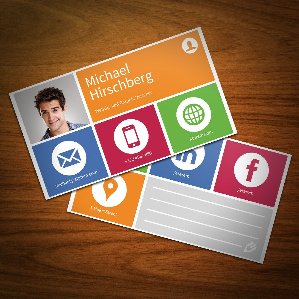 I quite like the pictogram layout with the strong colours only metro style themed business card template with smart icons cheaphphosting Image collections