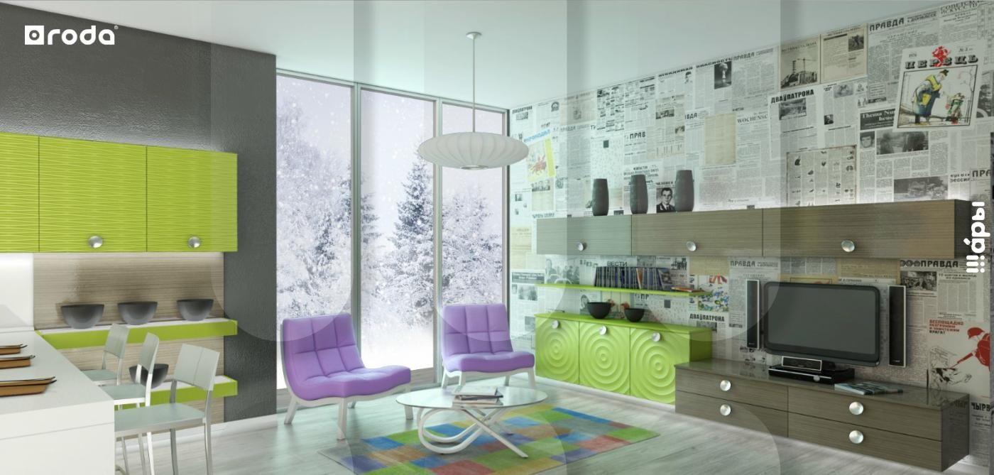 Modular system for living room Woodstock (facades models Melbourne-Reykjavik 3D)