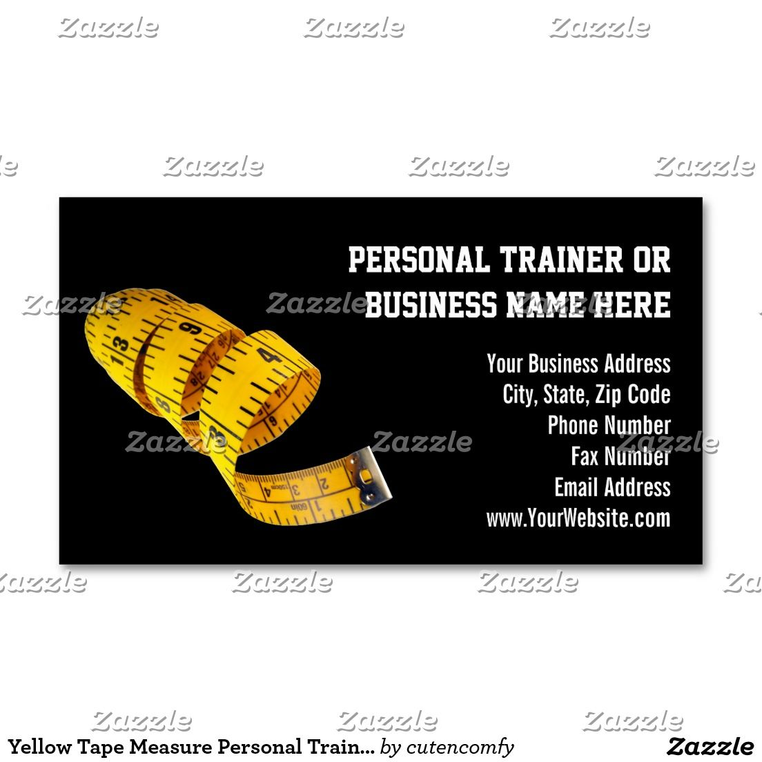 Yellow tape measure personal trainer weight loss business card yellow tape measure personal trainer weight loss business card colourmoves