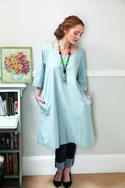 Slouchy Smock Dress From Making Magazine Free Pattern One Size Up New Smock Dress Pattern