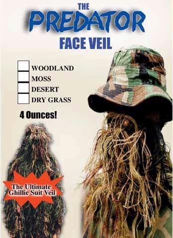 Predator Face Veil Desert Products Ghillie Suit Face