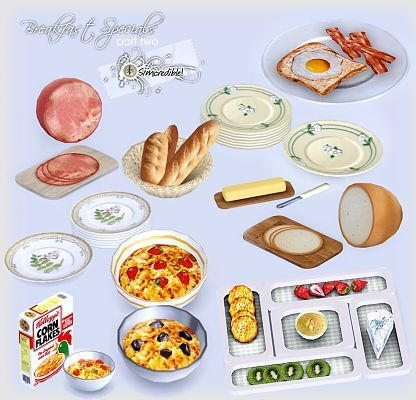 Sims 3 kitchen decor food objects like and repin for Sims 3 kitchen designs