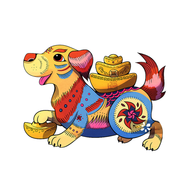 Creative Dog Red Dogs, Chinese, New, Year PNG Transparent ... (640 x 640 Pixel)