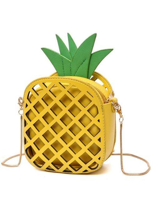 86c3498c57b Funny Pineapple Shaped Crossbody Bag - $18.49 | SHOES AND HANDBAGS ...
