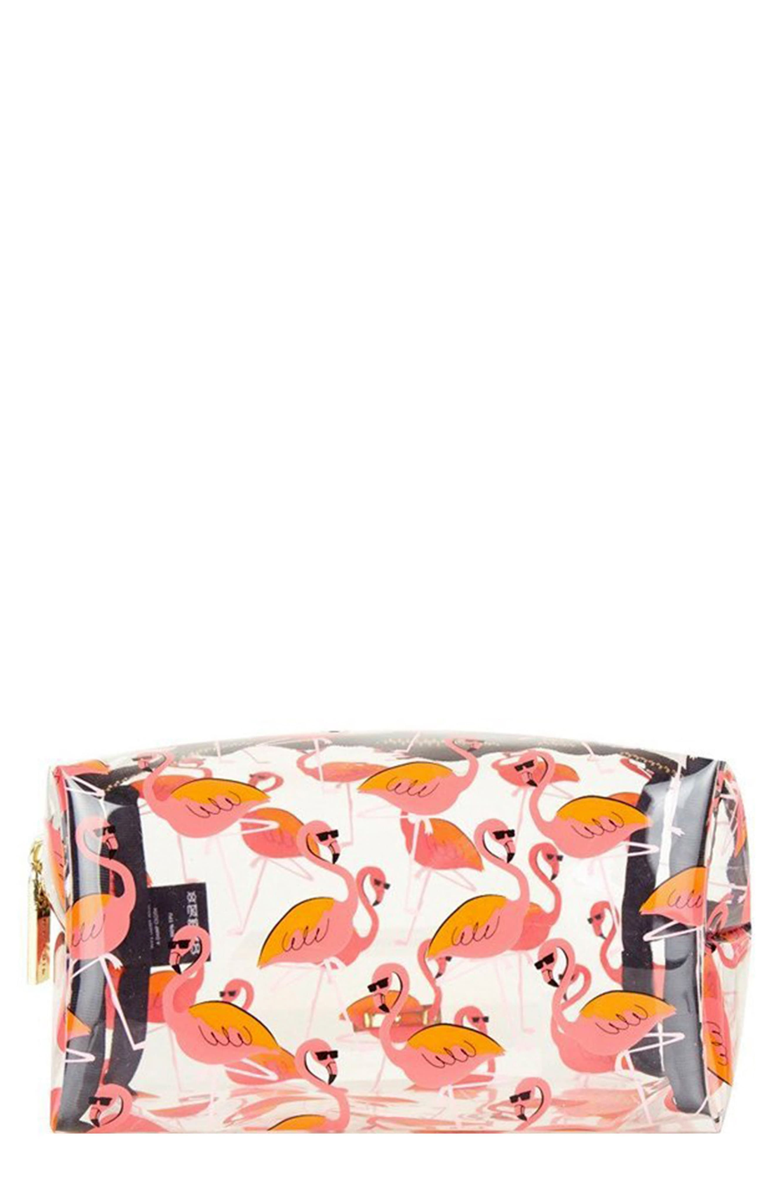 Skinny Dip Clear Flamingo Makeup Bag, Size One Size No
