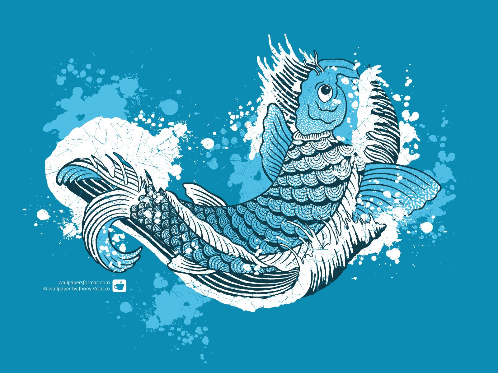 Fish Koi Watercolor Wallpaper, Koi Fish Wallpaper Free