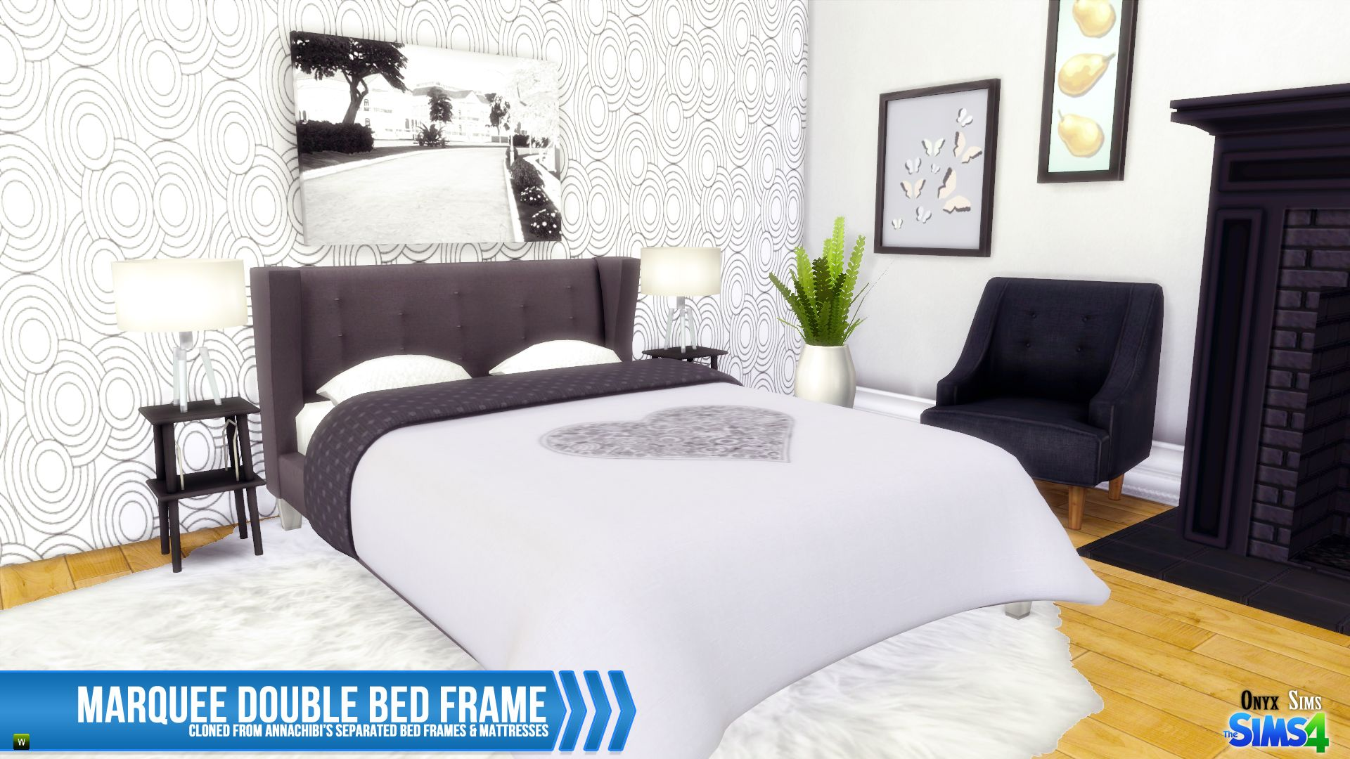 Muebles Sims 4 Ts4 Marquee Double Bed Frame Sims 4 Houses Pinterest