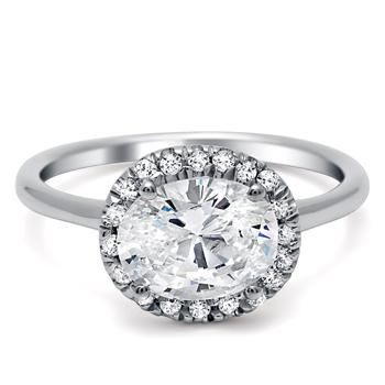 I love the long oval of this ring... from timeless designs