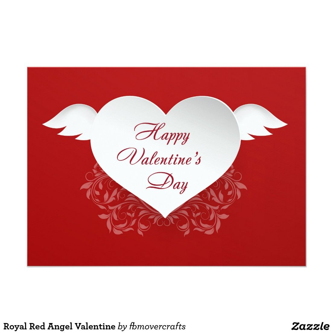 Royal Red Angel Valentine 5x7 Paper Invitation Card | Party and ...