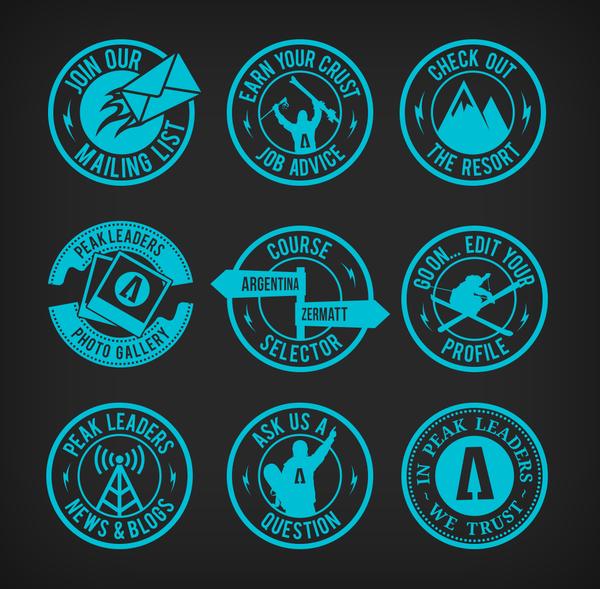 Badge Graphics For Peak Leaders By Jamie Shields Via Behance