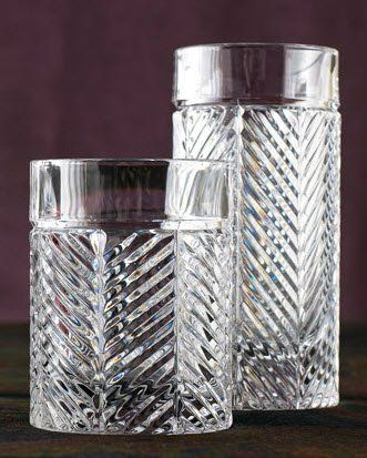 1978fd434394 Ralph Lauren Herringbone Hi Ball and Double Old Fashion crystal cocktail  glasses