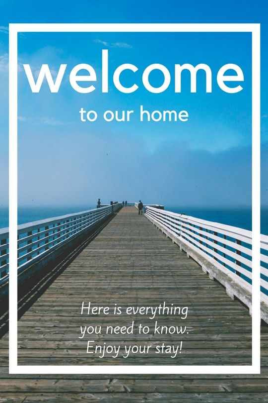 Modern Welcome Book 6 Page Vacation Home Printable Vacation