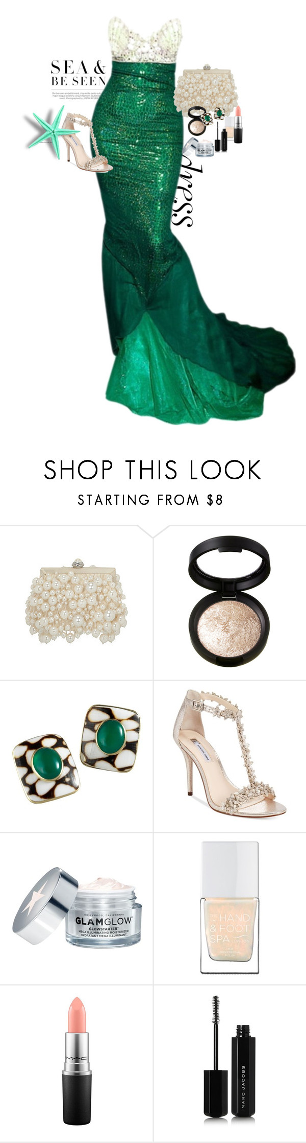 """""""by the sea party's dress"""" by claire86-c on Polyvore featuring moda, Laura Geller, Buccellati, INC International Concepts, GlamGlow, The Hand & Foot Spa, MAC Cosmetics e Marc Jacobs"""