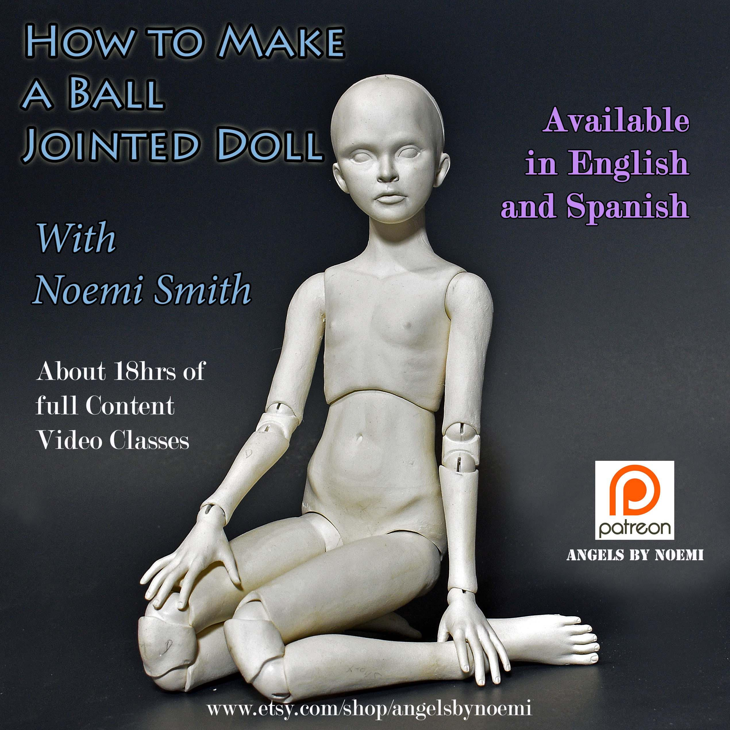 Online Class How To Make A Ball Jointed Doll Angels By Noemi