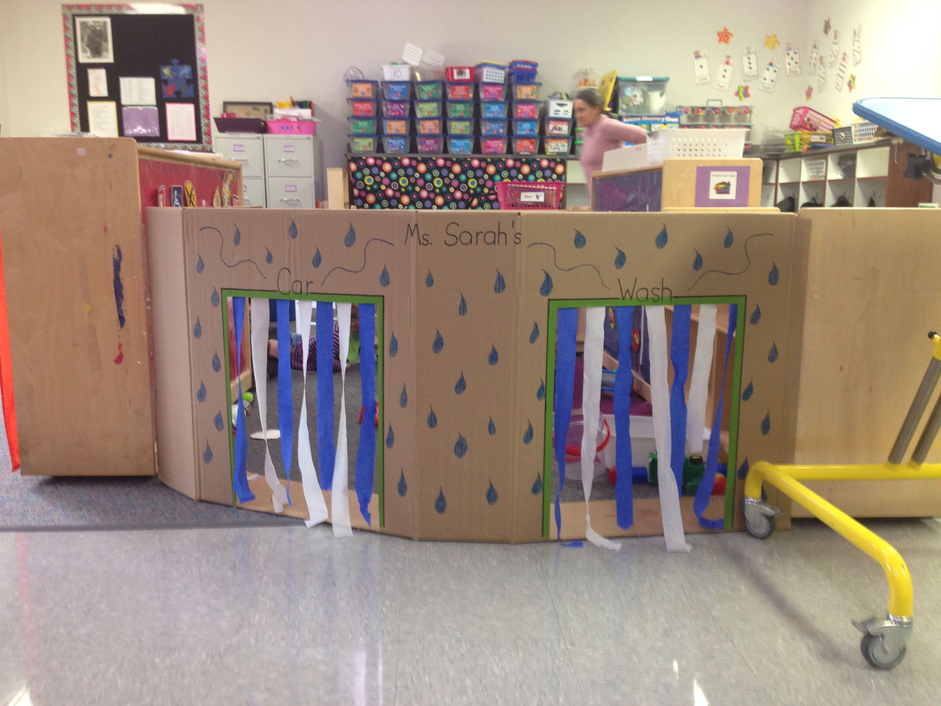 awesome car wash for pretend and learn spatial awareness