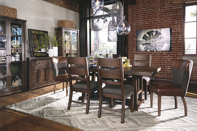 Two Tone Brown Zenfield Dining Room Chair View 4